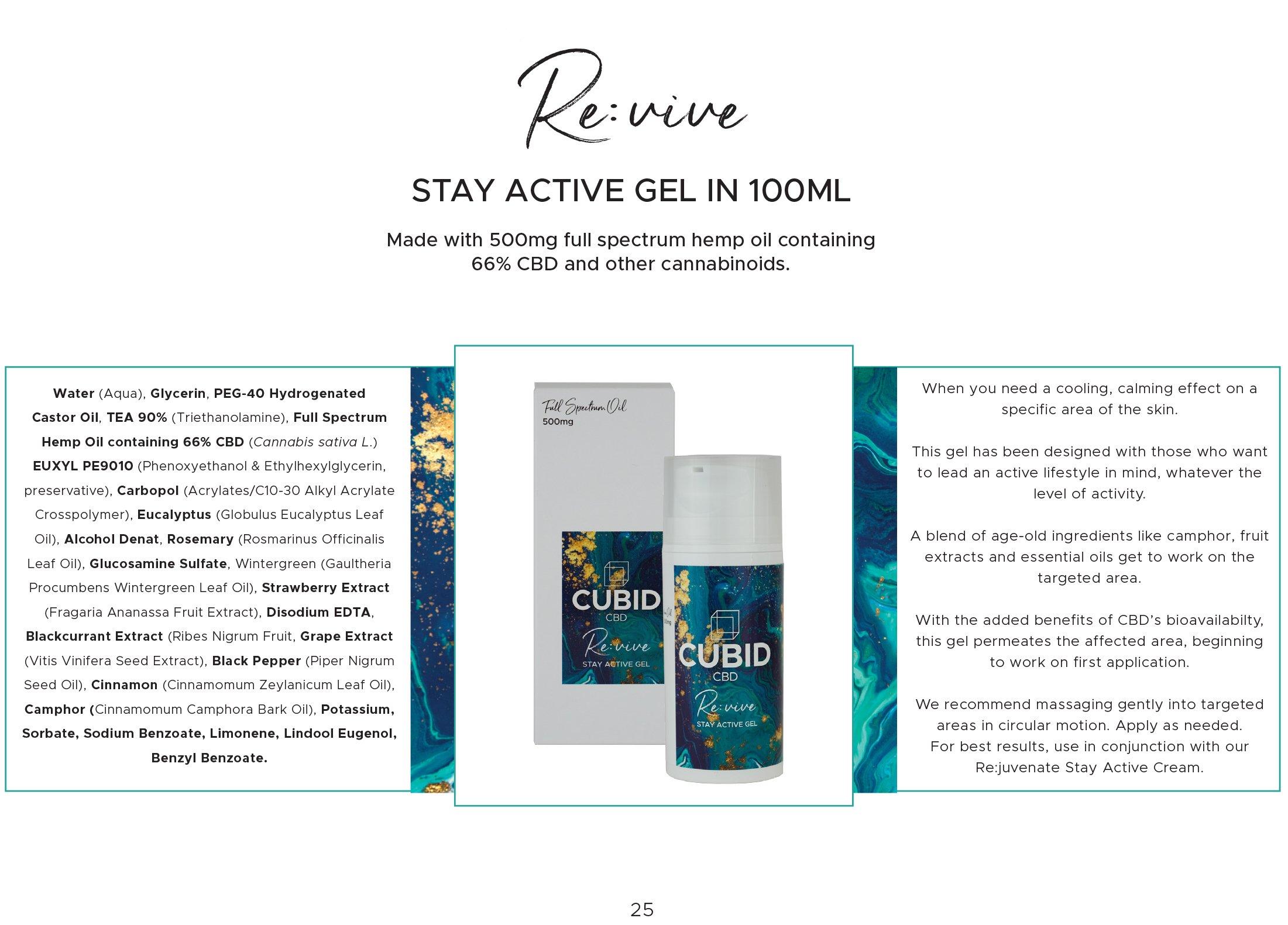 Cubid Revive - Muscle Gel 500mg - Premier E-Cigs Wholesale
