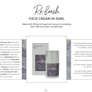 Cubid Refresh – Face Cream 125mg